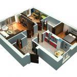 Трехкомнатная квартира – практичность вашего проживания