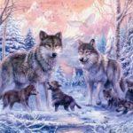 Картина с изображением волков как символ любви и успеха